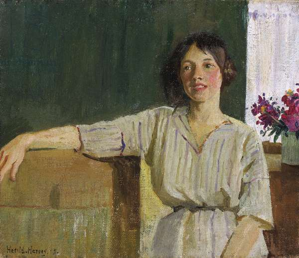 The artist's model, Newlyn, 1915 (oil on canvas)