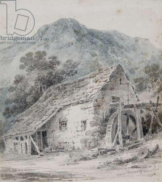 Near Dinas Mawddwy, 1800 (w/c & pencil on paper)
