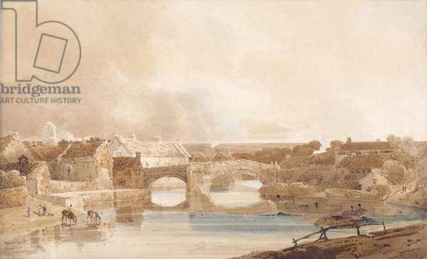 Morpeth Bridge, Northumberland, c.1801 (pencil & w/c on paper)