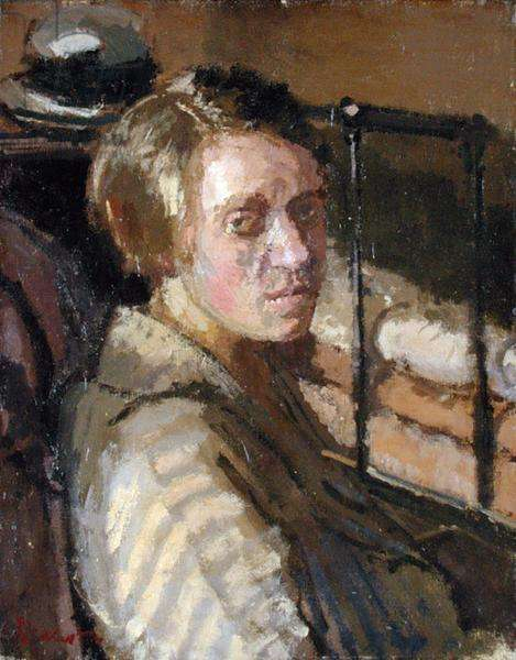 Camden Town Portrait (oil on canvas)