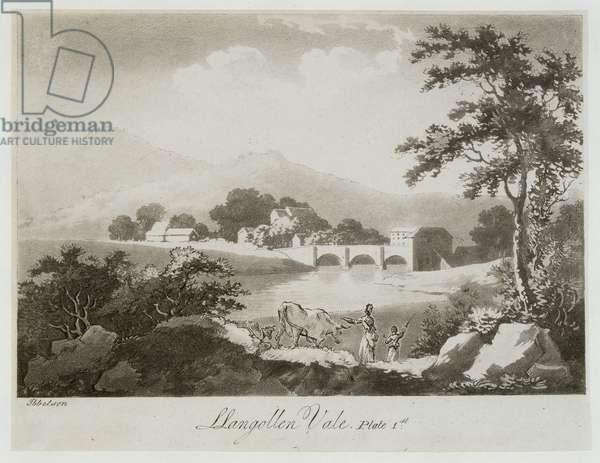 Llangollen Vale (aquatint on paper)