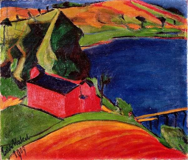 Lake near Moritzburg, 1909 (oil on canvas)