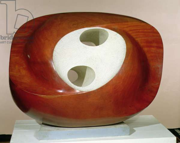 Oval Sculpture (Delos) 1955 (painted wood)