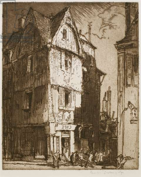A Street in Tours (etching)