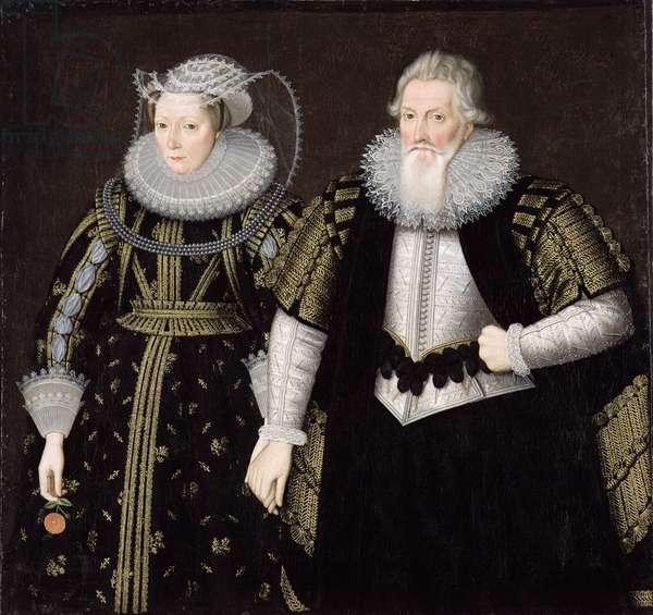 Sir Thomas Mansel (1556-1631) and Jane (Pole) Lady Mansel (oil on canvas)