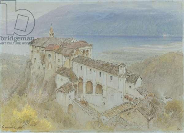 The Monastery, Locarno, 1890 (w/c & chalk on paper)