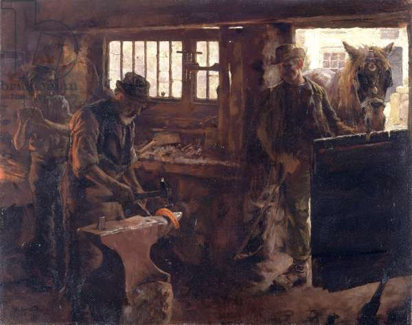The Little Smithy, 1894 (oil on canvas)