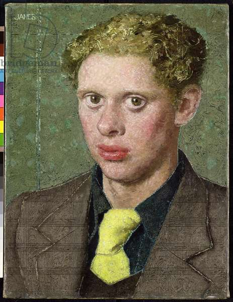 Dylan Thomas (1914-53), 1934 (oil on canvas)