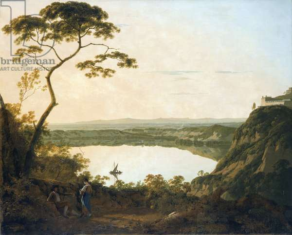 The Lake of Albano, 1790 (oil on canvas)