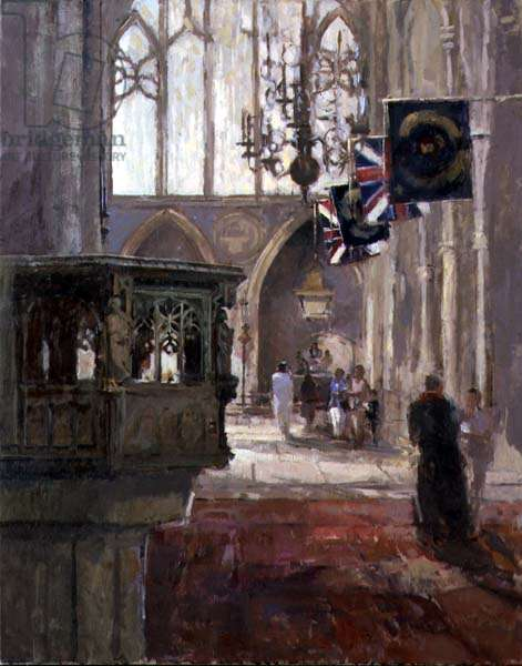 From the North Transept, Southwark (oil on canvas)