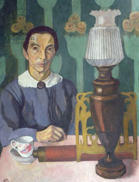 The Landlady, 1918 (oil on canvas)
