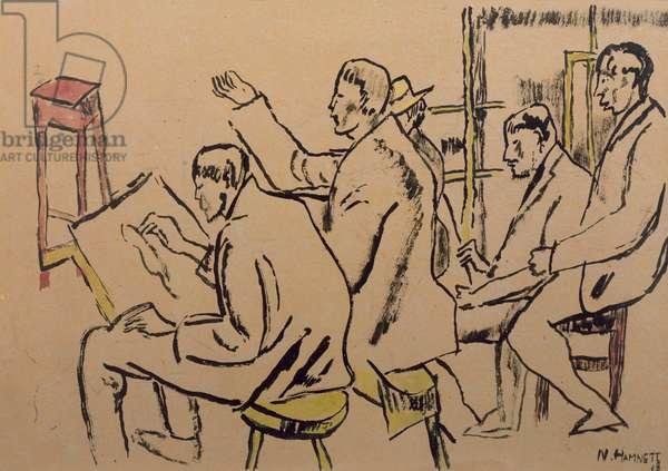 The Studio, c.1918 (paint on paper)