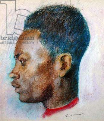 African Head, c.1920 (coloured chalks on paper)