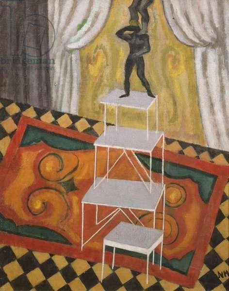 Acrobats, 1910 (oil on canvas)