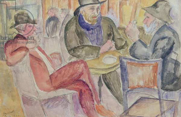 Paris Cafe, 1921 (pencil and w/c on paper)