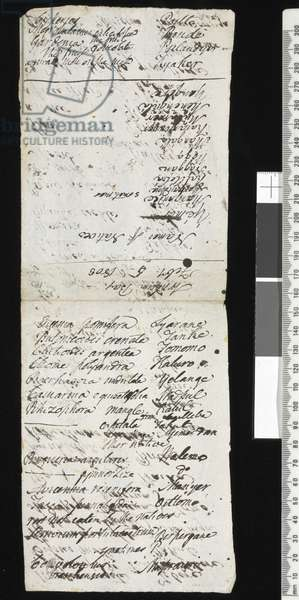 Manuscript page from Robert Brown's diary, February 5th, 1803 (pen & ink on paper)