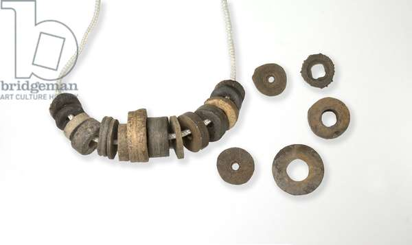 St. Cuthbert's Beads - rosary made from crinoid columnals