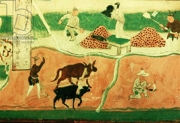 Farmers at Work, Northern Song Dynasty, 960-1279 (wall painting)