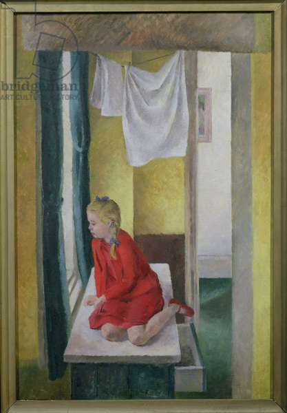 Judith at the Kitchen Window (oil on canvas)