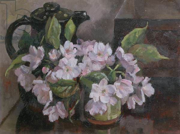 Blossom with Coffee Pot (oil on board)