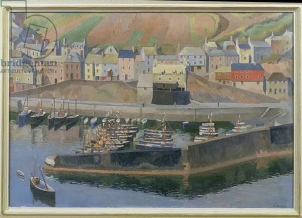 Mevagissey Harbour, 1940 (oil on canvas)