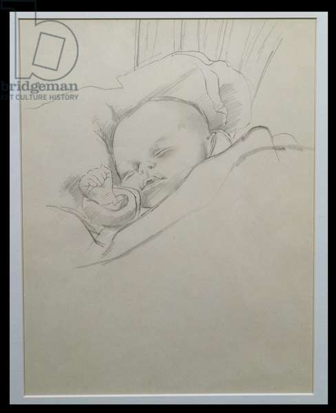 Judith Asleep (pencil on paper)