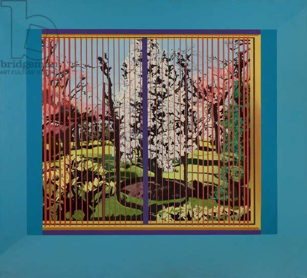 Windowscape with Blossom Tree, 1979 (oil on canvas)