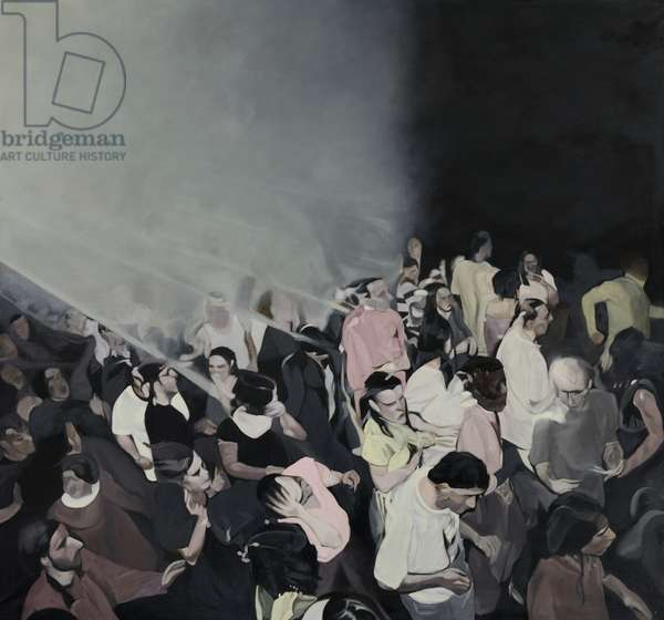 Untitled (Party Scene triptych centre), 1993-96 (oil on canvas)