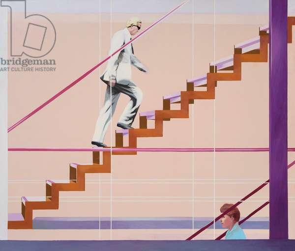 Diagonal Staircase, 1983-85 (oil on canvas)