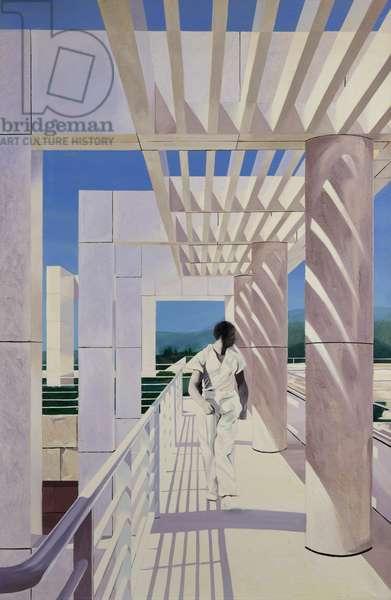 Figure on a Walkway II, 1998 (oil on canvas)