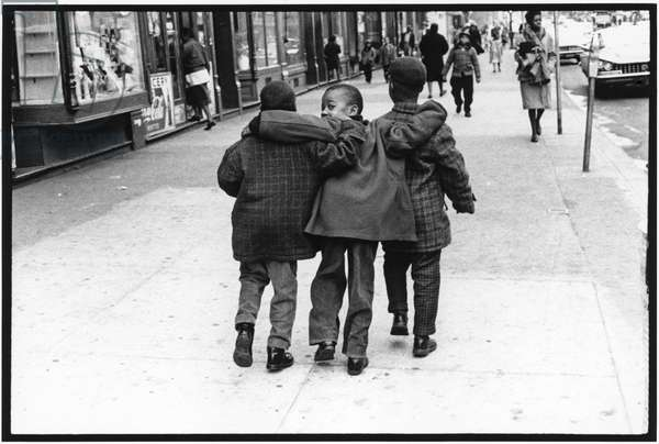 Boys in Harlem, New York, 1960 (b/w photo)