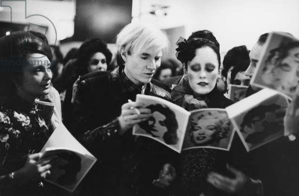 Andy Warhol Tate Gallery, London (b/w photo)