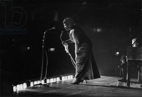 Ella Fitzgerald, Manchester, 1958 (b/w photo)