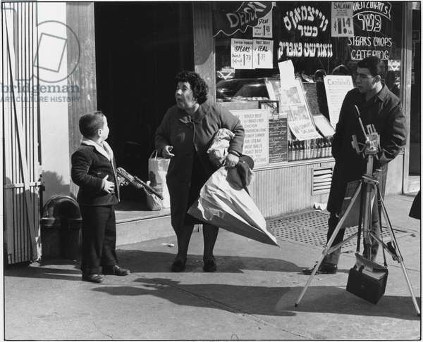 Boy with Plastic Gun, New York, 1964 (b/w photo)