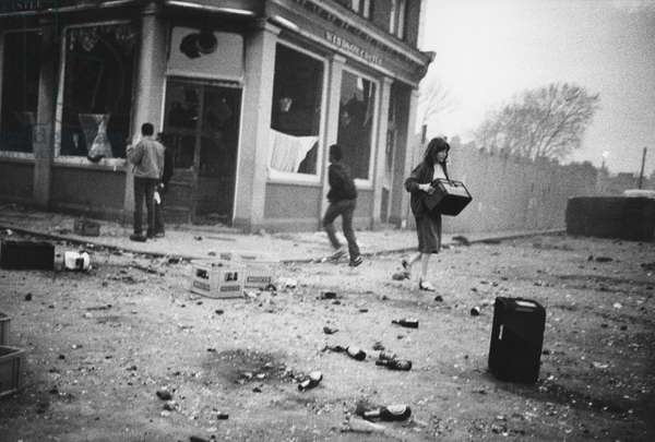 Brixton Riot, 1981 (b/w photo)