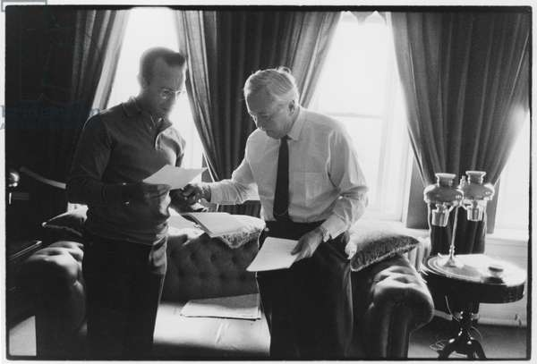 Harold Wilson and Joe Haines, 1973 (b/w photo)