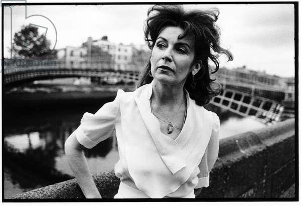 Edna O'Brien, Dublin, 1979 (b/w photo)