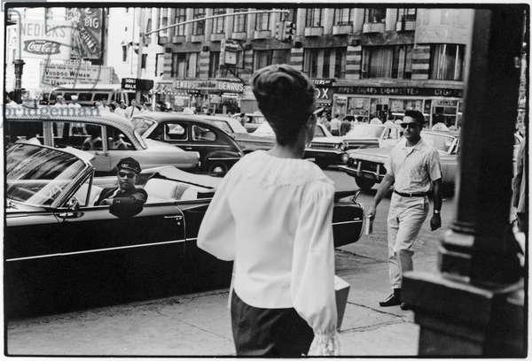 42nd Street, New York City, 1960 (b/w photo)