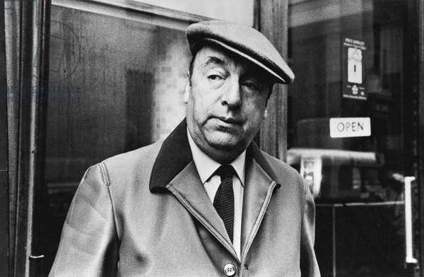 Pablo Neruda, 1964 (b/w photo)