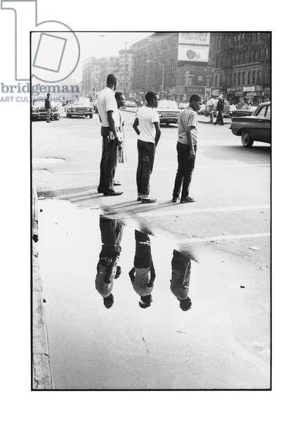 Reflection, Harlem, New York, 1964 (b/w photo)