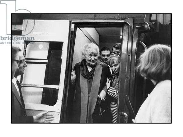 Anna Akhmatova, London, 1963 (b/w photo)