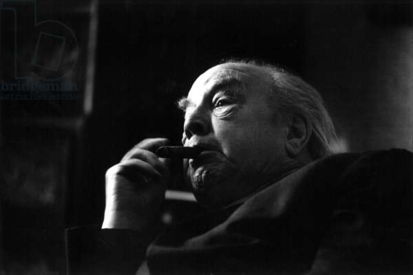 J.B Priestley, London, 1974 (b/w photo)