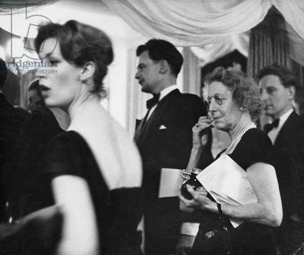 Pierre Balmain Fashion Show, London, 1958 (b/w photo)