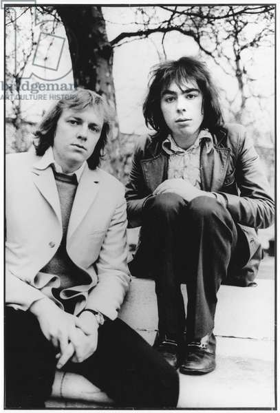 Tim Rice and Andrew Lloyd Webber, London, 1970 (b/w photo)