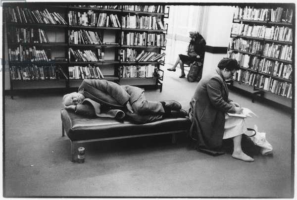 St Pancras Library, Euston Road, London, 1989 (b/w photo)