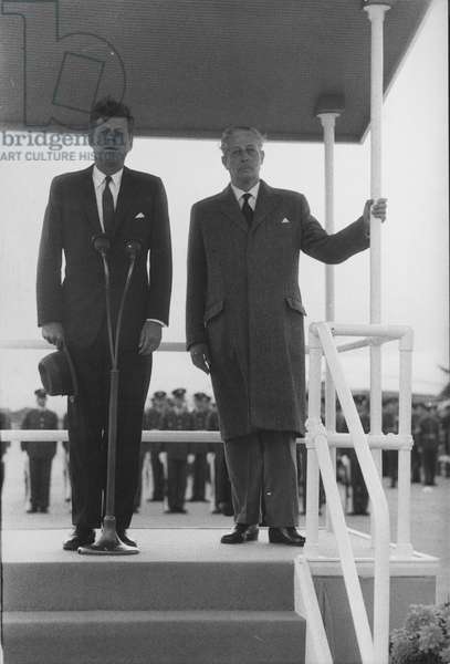 Harold MacMillan and John F. Kennedy, 1961-63 (b/w photo)