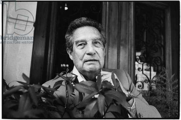 Octavio Paz, 1990 (b/w photo)