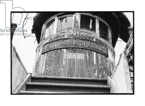Ellis Island, 1968 (b/w photo)