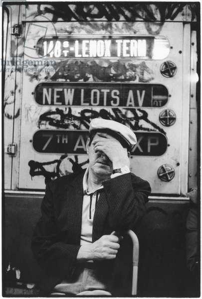 New York Subway, 1960 (b/w photo)