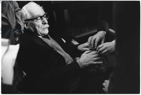 Bernard Leach, 1970s (b/w photo)